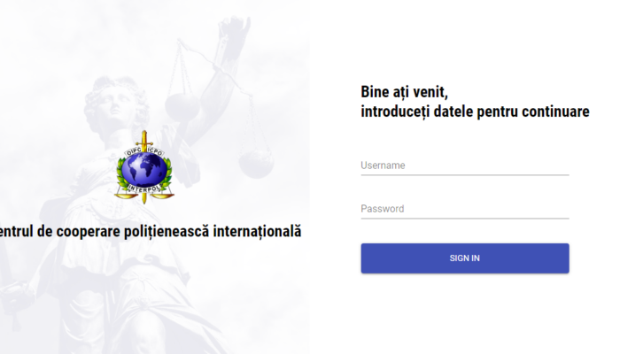 Stolen travel documents reporting system for Moldova Interpol department